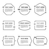 Set of Quotation. Speech Bubble templates with Royalty Free Stock Image