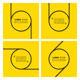 Set of quote text bubbles on yellow background. Royalty Free Stock Photography