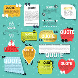 Set 15 quote for website in linear and flat style Stock Photo