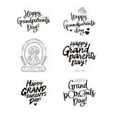 Set quotes about happy grandparents day! royalty free illustration