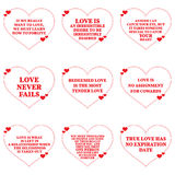 Set of quotes about love over white background. Royalty Free Stock Photo
