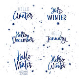 Set quotes about winter stock illustration