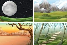 Set różna scena ilustracja wektor