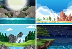 Set różna scena royalty ilustracja