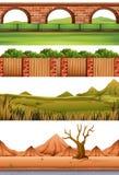 Set różne sceny ilustracja wektor