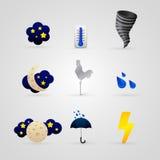 Set różne kolor pogody ikony royalty ilustracja