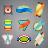 Kolekcja różne koloru faborku etykietki ilustracja wektor