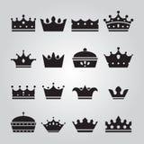 Set różne koron ikony ilustracji