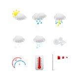 Set różne Pogodowe ikony ilustracji