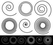 Set różne spirale z uderzenie profilem ilustracja wektor
