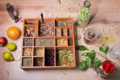 Set różne ziołowe herbaty Fotografia Royalty Free