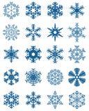 Set Różni Błękitni płatki śniegu fotografia royalty free