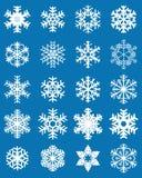Set różni biali płatki śniegu fotografia stock