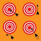 Set różni cele i strzała ilustracji