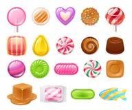 Set różni cukierki sweets asortowani ilustracja wektor