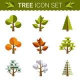 Set różni drzewa, skały, trawa Sprites dla ilustracja wektor