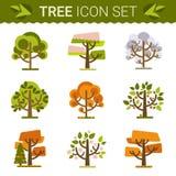 Set różni drzewa, skały, trawa Sprites dla ilustracji