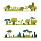 Set różni drzewo gatunki ilustracja wektor