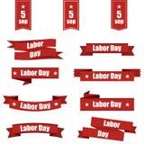 Set różni faborki dla święta pracy America również zwrócić corel ilustracji wektora Zdjęcie Stock