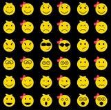 Set różni kolorów uśmiechy Obrazy Stock
