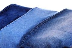 Set różni niebiescy dżinsy jakby Zdjęcie Royalty Free