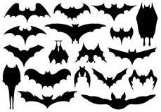 Set różni nietoperze ilustracji