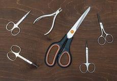 Set różni nożyce Obraz Royalty Free