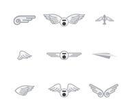 Set różni samolotowi logowie ilustracji
