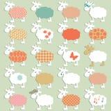 Set różni sheeps Zdjęcia Stock