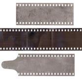 Set różnorodnego paska stary film z pyłem i narysy odizolowywający fotografia royalty free