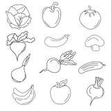 Set różnorodni doodles Zdjęcia Stock