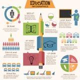 Set różnorodni edukaci infographics elementy ilustracji