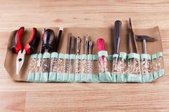 Set różnorodni narzędzia dla remontowej pracy na domu Fotografia Royalty Free