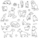 Set różnorodni psy royalty ilustracja