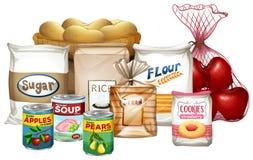 Set różnorodność foods ilustracji