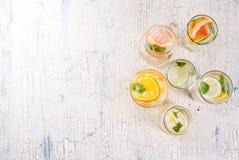 Set różnorodny cytrusa drink fotografia stock