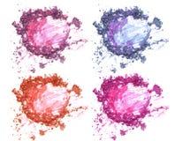 Set różnorodny zdruzgotany eyeshadow zdjęcia stock