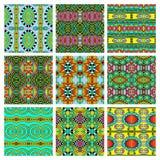 Set różny bezszwowy barwiony rocznik Obrazy Stock