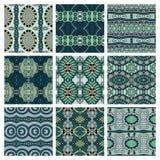 Set różny bezszwowy barwiony rocznik Zdjęcie Royalty Free