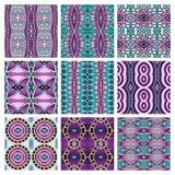 Set różny bezszwowy barwiony rocznik Zdjęcia Stock