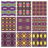 Set różny bezszwowy barwiony rocznik Zdjęcie Stock
