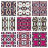 Set różny bezszwowy barwiony rocznik Zdjęcia Royalty Free