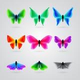 Set różny koloru motyl royalty ilustracja