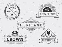 Set różny retro odznaka projekt ilustracja wektor