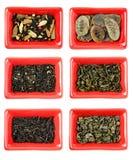 Set różnych rodzajów herbaciany rodzaju, zdrowego i świeżości napój, Fotografia Royalty Free