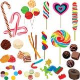 Set różne czekolady Obrazy Royalty Free