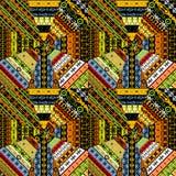 Set różne etniczne tekstury ilustracji