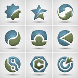 Set różne ikony Obrazy Stock