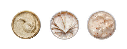 Set 3 różnego kosmetyka kremowego Zdjęcie Royalty Free