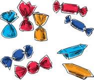 Set różni cukierki Fotografia Royalty Free